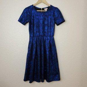 Lularoe Metallic Blue Elegant Collection Amelia
